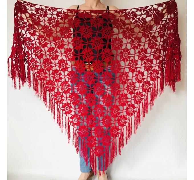Black Alpaca shawl Wedding shawl, Mohair Bridal cover up, warm wool Triangle shawl fringe, Black lace shawl, Bridesmaid gift, Bride shawl  Shawl / Wraps  7
