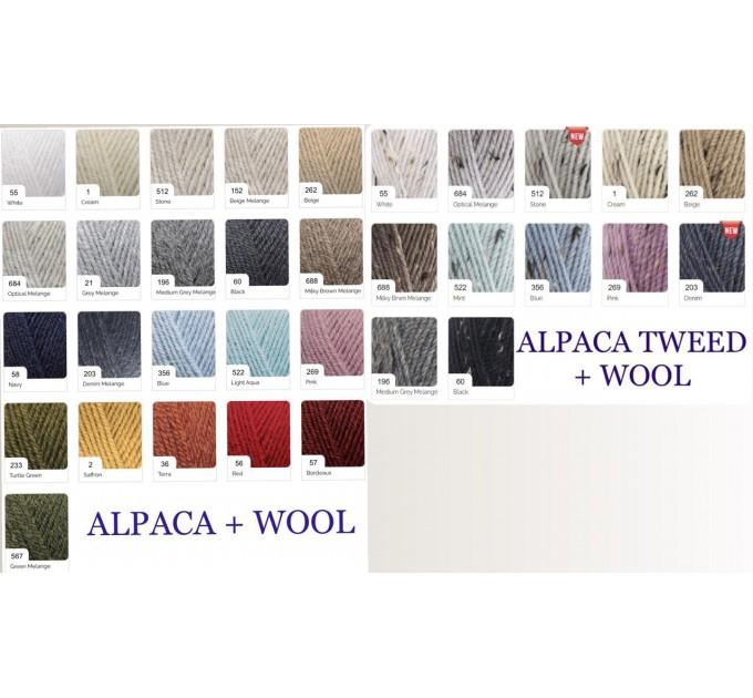 Black Alpaca shawl Wedding shawl, Mohair Bridal cover up, warm wool Triangle shawl fringe, Black lace shawl, Bridesmaid gift, Bride shawl  Shawl / Wraps  9