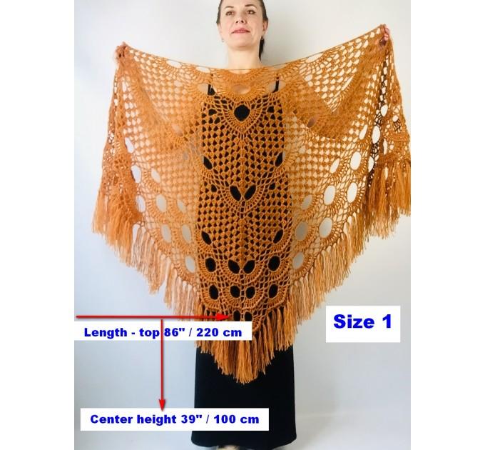 Ivory bride shawl winter cream wool triangle shawl fringe bridal shawl wedding cape bride cover up bridal party shawl bridesmaid shawl  Shawl / Wraps  9