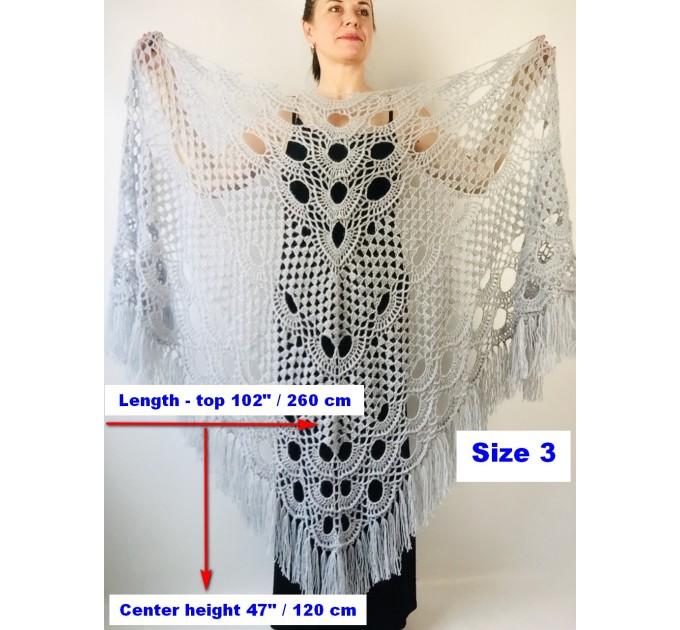 Ivory bride shawl winter cream wool triangle shawl fringe bridal shawl wedding cape bride cover up bridal party shawl bridesmaid shawl  Shawl / Wraps  11