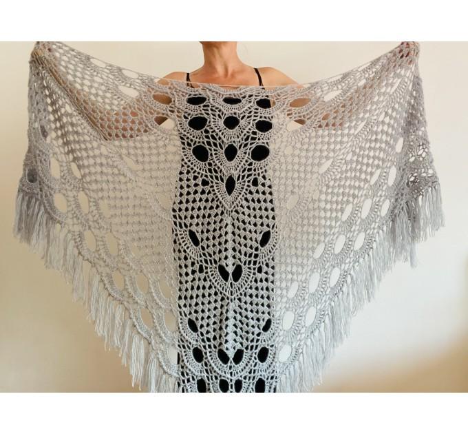 Pink bridal shawl wedding dress shawl triangle shawl fringe lace wedding cape bridal cape bridesmaid shawl wedding capelet bride shawl  Shawl / Wraps  5
