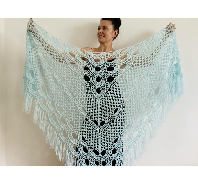 Pink bridal shawl wedding dress shawl triangle shawl fringe lace wedding cape bridal cape bridesmaid shawl wedding capelet bride shawl  Shawl / Wraps  7