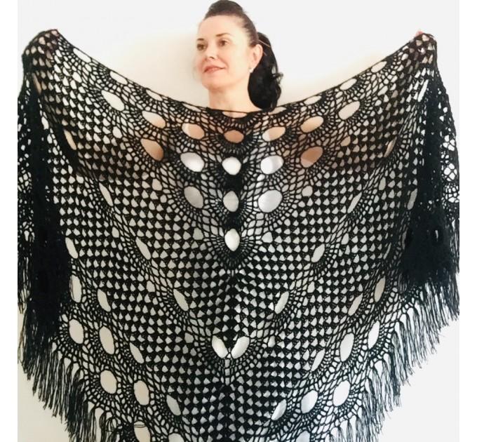 Ivory bride shawl winter cream wool triangle shawl fringe bridal shawl wedding cape bride cover up bridal party shawl bridesmaid shawl  Shawl / Wraps  4