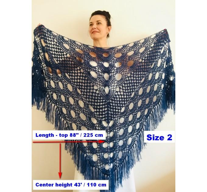 Royal Blue cashmere bridе shawl winter wedding shawl alpaca triangle shawl wedding cape bridesmaid shawl bride cover up anniversary gift  Mohair / Alpaca  10