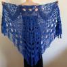 Royal Blue cashmere bridе shawl winter wedding shawl alpaca triangle shawl wedding cape bridesmaid shawl bride cover up anniversary gift