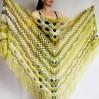 Olive Alpaca Shawl Fringe, Green Plus Size Poncho Women, Hand knit Mohair Crochet Wool Warm Large Triangle Scarf Blue White Black Green Pink