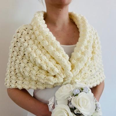 White shrug bridal bolero bridesmaid shawl ivory wedding stole bridal cape white bridal wrap bride cover up bridal party shawl wedding cape