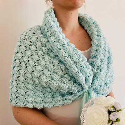 Mint Wedding Shrug Bolero, Bride shawl Beige wrap, Wool shawl, Burgundy cover up Lace bridal cape jacket, Ivory capelet, Gray Blue White
