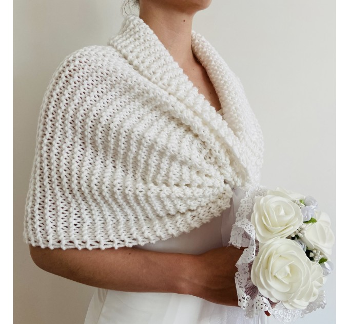 Turquoise bridal shawl wool wedding shrug bridal party shawl wedding capelet bridesmaid shrug bride bolero bride capelet bridal stole  Bolero / Shrug  11