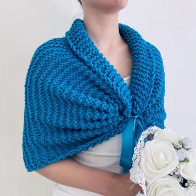 Turquoise bridal shawl wool wedding shrug bridal party shawl wedding capelet bridesmaid shrug bride bolero bride capelet bridal stole