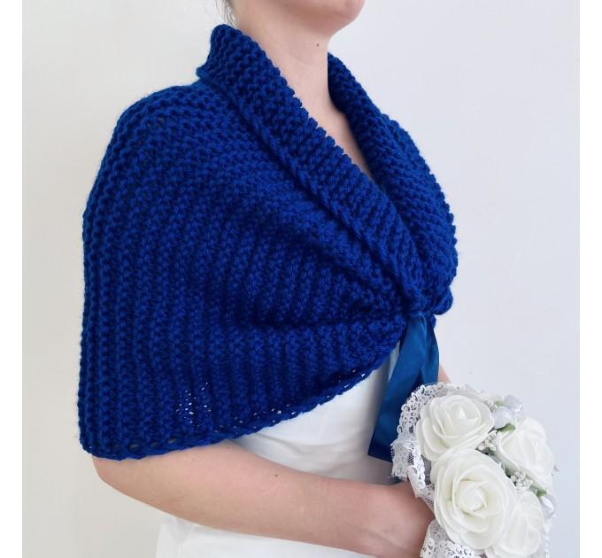 Turquoise bridal shawl wool wedding shrug bridal party shawl wedding capelet bridesmaid shrug bride bolero bride capelet bridal stole  Bolero / Shrug  13
