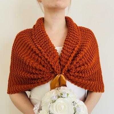 Burnt orange cover up bridal shrug wedding shrug bridesmaid shrug wedding bolero bride bolero bridesmaid bolero bridal shawl for wedding