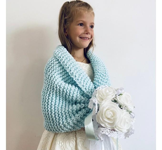 Gray flower girl shawl winter childs bolero wedding kids shrug communion shrug kids bolero little girls bolero kids cape childs shrug  Bolero / Shrug  2