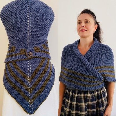 Blue Outlander Claire rent shawl alpaca knit shoulder wrap Inspired Claire blue wool triangle shawl sontag scottish wedding shawl anniversary gift wife mom