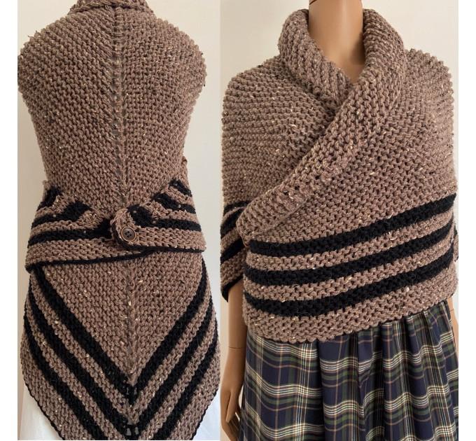 Black Claire Outlander rent Shawl Knit shoulder Wrap Alpaca, Mohair warm triangle wool shawl celtic sontag Shawl anniversary gift Mom Her  Shawl Alpaca  2