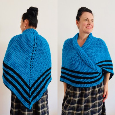 Turquoise Claire Outlander Shawl Wool Triangle Shawl celtic sontag shawl Mohair Knit warm shoulder anniversary gift Mom Her Sister