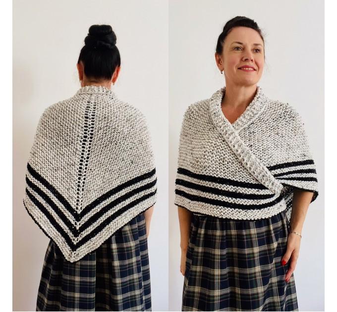 Black Claire Outlander rent Shawl Knit shoulder Wrap Alpaca, Mohair warm triangle wool shawl celtic sontag Shawl anniversary gift Mom Her  Shawl Alpaca  1