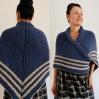 Blue Outlander Claire rent shawl celtic sontag shawl triangle wool shawl knit shoulder wrap Carolina Shawl Fraser's Ridge winter shawl