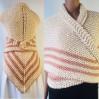 Ivory Outlander rent shawl white triangle wool shawl sontag celtic shawl knit shoulder wrap Claire Carolina Shawl Fraser's Ridge winter shawl