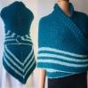 Blue Outlander rent Claire shawl sontag celtic shawl petrol triangle wool shawl knit shoulder wrap Carolina Shawl Fraser's Ridge winter shawl