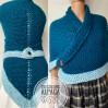 Petrol Outlander rent Claire shawl sontag celtic shawl blue triangle wool shawl knit shoulder wrap Carolina Shawl Fraser's Ridge winter shawl
