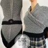 Gray Claire Outlander rent shawl celtic sontag shawl wool triangle shawl knit shoulder wrap claire fraser shawl anniversary gift wife mom