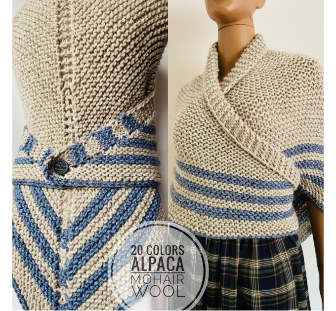 White Outlander rent shawl ivory triangle wool shawl sontag celtic shawl knit shoulder wrap Claire Carolina Shawl Fraser's Ridge winter shawl  Shawl Wool Mohair  7