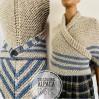 Gray Outlander Claire rent shawl triangle wool shawl sontag celtic shawl knit shoulder wrap Carolina Shawl Fraser's Ridge winter shawl