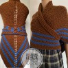 Brown Claire outlander shawl rent wool shawl sontag triangle shawl Carolina with button for fastening Outlander gift mother wife