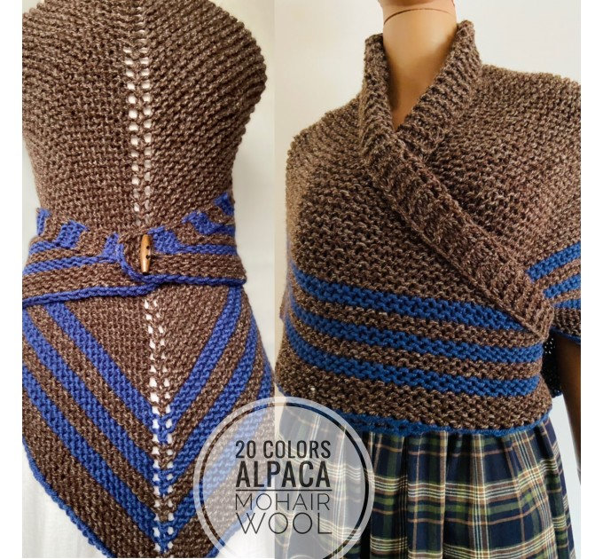 White Outlander rent shawl ivory triangle wool shawl sontag celtic shawl knit shoulder wrap Claire Carolina Shawl Fraser's Ridge winter shawl  Shawl Wool Mohair  8