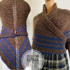 Outlander Claire rent shawl knit shoulder wrap brown alpaca triangle shawl wool sontag shawl anniversary gift wife mom