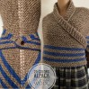 Gray Claire Shawl Wool, sontag Outlander shawl Triangle Shawl for Mom Her Inspired Carolina S4 Drums of Autumn Blue Outlander Knit