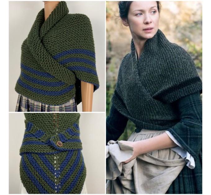 Outlander rent Claire shawl knit shoulder wrap sontag celtic shawl green triangle wool shawl Carolina Shawl Fraser's Ridge winter shawl  Shawl Wool Mohair