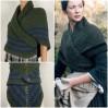 Outlander rent Claire shawl knit shoulder wrap sontag celtic shawl green triangle wool shawl Carolina Shawl Fraser's Ridge winter shawl