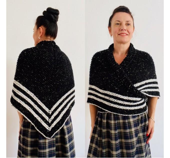 Black Claire Outlander rent Shawl Knit shoulder Wrap Alpaca, Mohair warm triangle wool shawl celtic sontag Shawl anniversary gift Mom Her  Shawl Alpaca