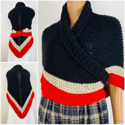 Outlander rent Claire shawl black triangle wool shawl knit shoulder wrap sontag celtic shawl Carolina Shawl Fraser's Ridge winter shawl