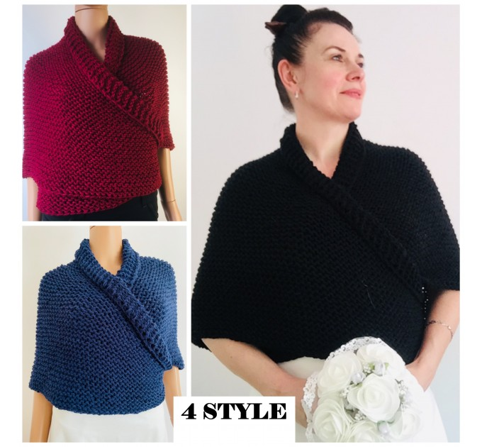 Gray 960 Triangle sontag shawl with button for fastening, Inspired Claire Carolina S4 Drums of Autumn Outlander Knit  Shawl Wool Mohair  11