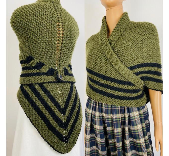 Claire Outlander shawl green alpaca triangle shawl knit shoulder wrapceltic sontag shawl claire fraser shawl anniversary gift wife mom  Shawl Alpaca