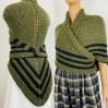 Claire Outlander shawl green alpaca triangle shawl knit shoulder wrapceltic sontag shawl claire fraser shawl anniversary gift wife mom