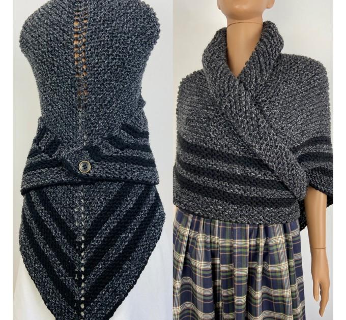 Claire Outlander shawl celtic sontag shawl gray alpaca triangle shawl knit shoulder wrap claire fraser shawl anniversary gift wife mom  Shawl Alpaca