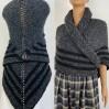 Claire Outlander shawl celtic sontag shawl gray alpaca triangle shawl knit shoulder wrap claire fraser shawl anniversary gift wife mom