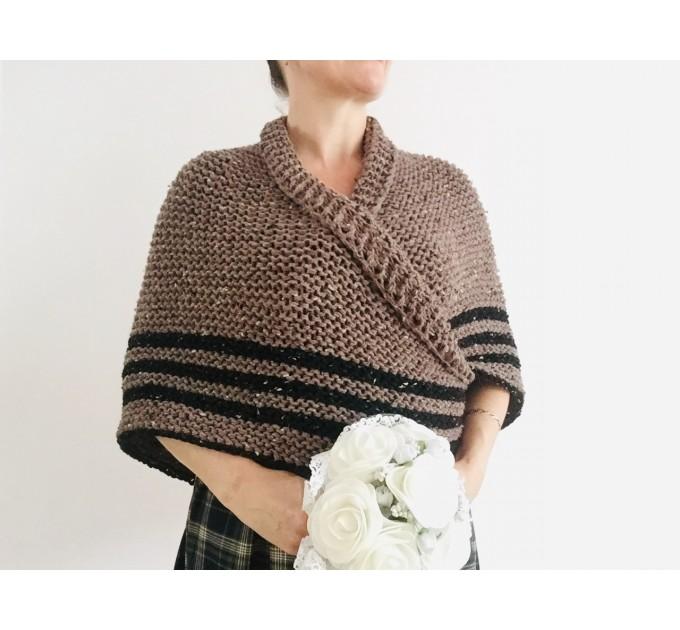 Brown Outlander rent shawl Claire Fraser knit shoulder wrap brown alpaca triangle shawl sontag shawl anniversary gift wife mom  Shawl Alpaca  10