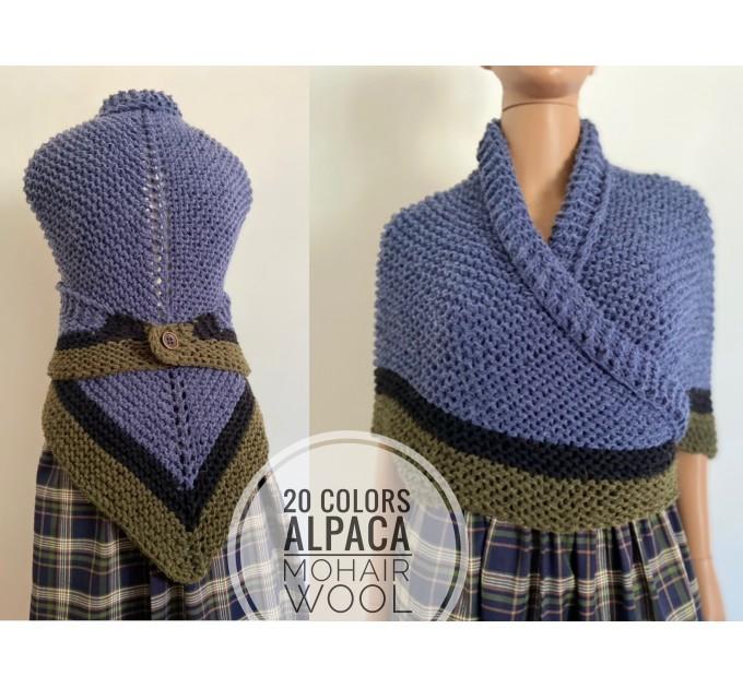 Brown Outlander rent shawl Claire Fraser knit shoulder wrap brown alpaca triangle shawl sontag shawl anniversary gift wife mom  Shawl Alpaca  2