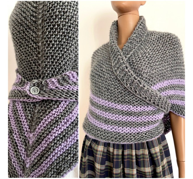 Claire Outlander shawl alpaca gray wool triangle shawl celtic sontag shawl hand crocheted shawl knit shoulder wrap anniversary gift wife mom  Shawl Wool Mohair