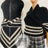Outlander Claire rent Shawl black triangle wool shawl celtic sontag shawl Carolina Shawl knit shoulder wrap anniversary gift wife mom