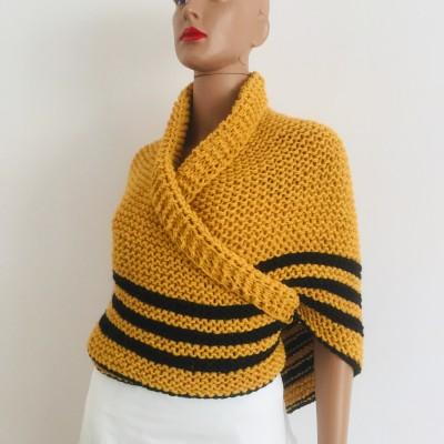 Triangle outlander shawl yellow alpaca wool shawl sontag celtic shawl Carolina Shawl knit shoulder wrap anniversary gift for here mom wife outlander costume