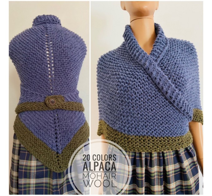 Outlander shawl Carolina Shawl alpaca knit shoulder wrap Inspired Claire blue wool triangle shawl scottish wedding shawl outlander gifts  Shawl Alpaca