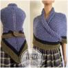 Claire Outlander shawl alpaca blue wool triangle shawl khaki knit shoulder wrap celtic sontag scottish shawl anniversary gift wife mom