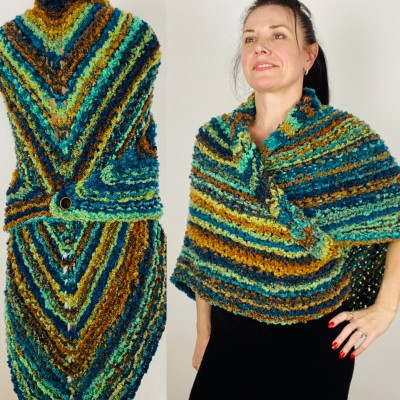 Blue Outlander Claire rent shawl warm knit shoulder wrap orange fall wool triangle shawl festival mohair shawl Inspired Carolina shawl