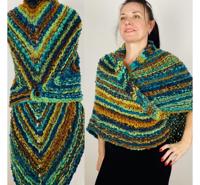 Blue Outlander Claire rent shawl warm knit shoulder wrap orange fall wool triangle shawl festival mohair shawl Inspired Carolina shawl  Shawl Wool Mohair